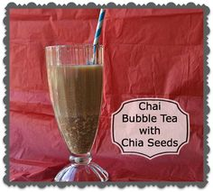 Make Chai Bubble Tea with Chia Seeds instead of tapioca - nutritious and delicious! #tea #chai