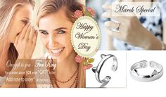 "March Special - Happy Women`s Day Free Ring For All Orders Over 30$ Write Down ""GIFT"" In The Checkout Page Under ""Add Note To Order""!"