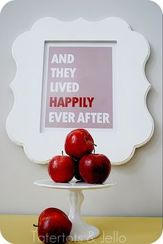"free printable ""and they lived happily ever after""  -- also a free ""Who's the fairest of them all"""