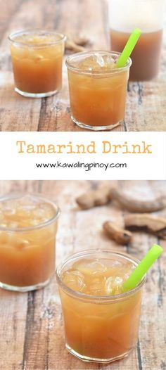 Tamarind drink is a type of aqua fresca made with tamarind pods and sweetened with simple syrup