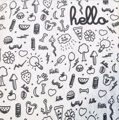 Image of Hello Doodles Kids white tee