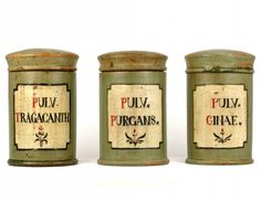 Antique Dutch Apothecary Jars, and a good deal too cheerful if you ask me.