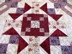 Mystery BOM quilted by Mountain Quiltworks