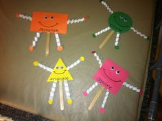 Shape puppets...cute for preschool!
