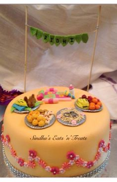 Namakaranam Theme Cake Cradle Ceremony Naming Cakes Design Model Diy