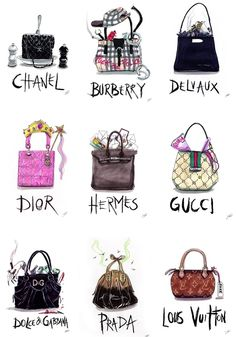 ImageFind images and videos about bag, chanel and dior on We Heart It - the app to get lost in what you love. Louis Vuitton, My Bags, Purses And Bags, Cheap Purses, Sacs Design, Illustration Mode, Chanel 2015, Fashion Sketches, Fashion Illustrations