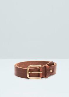Cinturón piel abatanada