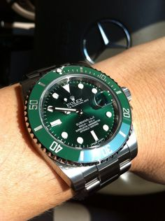 "Rolex green ceramic sub #watch ""the hulk"" #rolex"