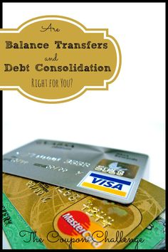 Are balance transfers and debt consolidation right for you?  If your debt situation seems to be at a stand still there are many options available.  Read these tips to see what's right for your family.