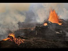 Flying Over Active Volcano in Iceland 2014! - YouTube
