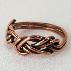 Figure 8 Climbing Knot Copper Ring. $35.00, via Etsy.