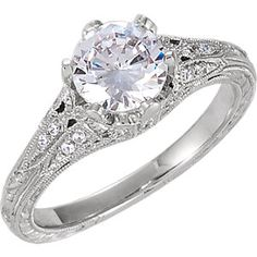 14kt white diamond engagement ring. Find it at a jeweler near you: www.stuller.com/locateajeweler #bestseller #engagement
