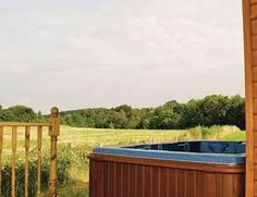 This is a view from a lodge at the Kiplin Eco Lodge Park near to Richmond in Yorkshire.  A perfect place to relax in a hot tub and enjoy the views over the countryside.