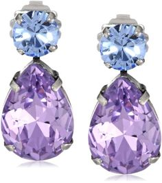 """Sorrelli """"Dixie"""" Bold Crystal Silver-Tone Post Teardrop Earrings Sorrelli Online Shopping to see or buy click on Amazon here http://www.amazon.com/dp/B00FAH9S9W/ref=cm_sw_r_pi_dp_MGLMtb1XNZHXE4RB"""