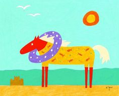 Beachy Horse Printable === there's one for each month