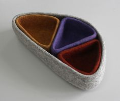Ala Tash. Series of felt bowls. Design: Emil Tilekov. Handmade by artisans of Tumar Art Group. 100% felt.