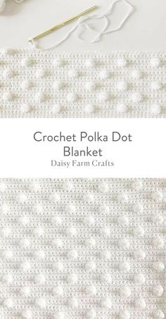 Free Pattern - Crochet Polka Dot Blanket