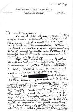 Letter from James Dean to Barbara Glenn