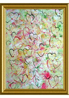 "Joel Lecker ""Great Heart"" painting on canvas"