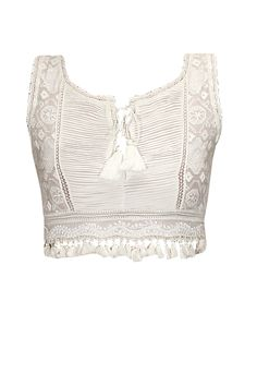 White embroidered bustier available only at Pernia's Pop-Up Shop.