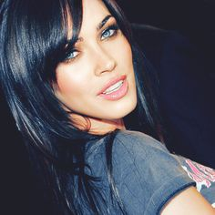 Love black hair and the eyes. Easy to be inspired!