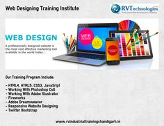 Start learning web designing at RV technologies and get trained in tools like Adobe Illustrator, Dreamweaver and Photoshop etc.