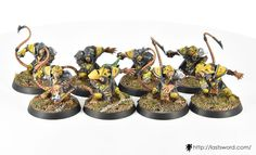 Skaven team for Blood bowl. Linemen. Painted by Renton.