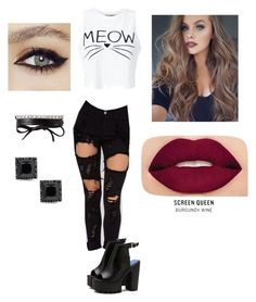 """""""Meow outfit"""" by explorer-147283671010 on Polyvore featuring Miss Selfridge, Smashbox and Fallon"""