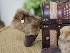 Baby Boots, Toddler Boots, Faux Leopard Fur and Faux Leather Baby Boots on Etsy, $42.00