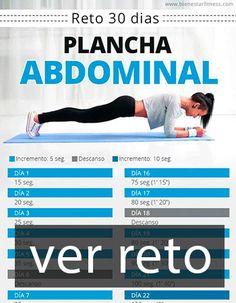 ✅ Reto de Plancha Abdominal de 30 Días para Eliminar Barriga. Mental Health, Health Fitness, 1, Workout, Plank, Crunches, Home, Workout Abs, Abdominal Exercises