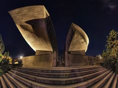 Memorial to the Slovak National Uprising, Banska Bystrica, Slovakia Great Places To Travel, Heart Of Europe, Danube River, Organic Architecture, Central Europe, Bratislava, Brutalist, City, Building