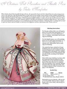 Porcelain doll cross stitch pin cushion pattern free.