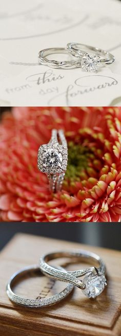Love the simple elegance of these dazzling diamond engagement rings!