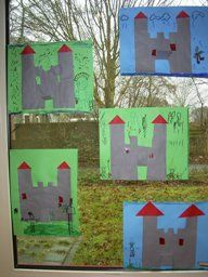 www.jufjanneke.nl | Ridders, jonkvrouwen en kastelen Castle School, Chalk Photos, A Knight's Tale, Château Fort, Dragon Crafts, Passion Project, Family Day, Preschool Art, Dungeons And Dragons
