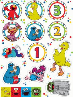 I'm almost tempted to call this post freentables, because yes, you guessed it, it's all about FREE Sesame Street Party Printables! Sesame Street Cupcakes, Sesame Street Party, Sesame Street Birthday, Elmo Birthday, Baby 1st Birthday, 2nd Birthday Parties, Birthday Ideas, Dinosaur Birthday, Bolo Elmo