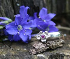 Forget Me Not Ring for Miscarriage and Infant Loss - 14k gold or Sterling Silver - from $65.00******My little one  You have left us too soon  Though my body can no longer hold you  I hold you forever in my heart  As precious and beautiful as this flower caught in time  A mother's love does not forget #miscarriage #babyloss #jewelry #miscarriagejewelry #memorial #pregnancyloss #gift
