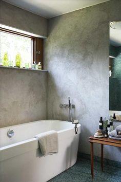 Concrete you are a winner. Retro Bathrooms, Dream Bathrooms, Beautiful Bathrooms, Bad Inspiration, Bathroom Inspiration, Bathroom Ideas, Bathroom Designs, Bathroom Windows, Basement Bathroom