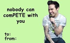 Okay I usually dont pin the cheesy valentines but this was just.... fob fall out boy
