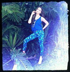 Calça florida jeans strech #nimbus
