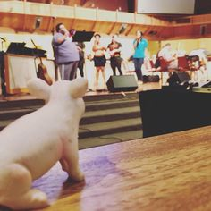 """Matilda """"supervised"""" the rehearsal for Gospel Concert at church."""