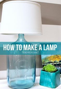 Make a beautiful lamp out of a huge glass jug with this quick and easy tutorial.
