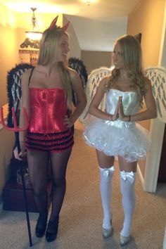 Angel and devil teen costume