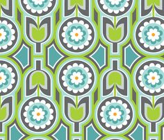 Retro Lounge 2 fabric by yuyu on Spoonflower - custom fabric