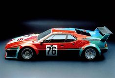 Andy Warhol's Art Car is one of the most iconic race cars of all time. Apparently, it took Warhol only 23 minutes to paint the entire car in The Warhol raced only once at the Le Mans 24 hour race in It finished second in their class and sixth overall. Bmw M1, Suv Bmw, Bmw Cars, Le Mans, Pittsburgh, Automobile, Andy Warhol Art, Bmw Classic Cars, Car Posters