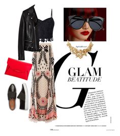 """Top glam!....by me"" by giovanniantonio on Polyvore featuring moda, Lipsy, Temperley London, Givenchy, Le Specs, Yves Saint Laurent e Oscar de la Renta"