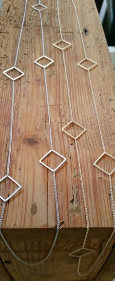 Geometric long dainty necklace