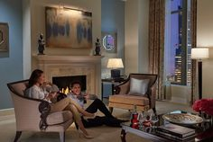Curl up by the #fireplace during your next winter escape in Mandarin Oriental, Atlanta's Mandarin Suite. #MOdreaming