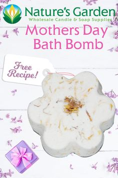 Free Mothers Day Bath Bomb Recipe by Natures Garden