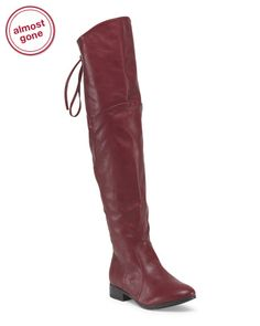 Over The Knee Boot With Lacing @tjmaxx