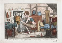 Image ID:  lwlpr11974  Call Number:  818.10.26.01+  Creator:  Cruikshank, Robert, 1789-1856, printmaker.  Title:  A dandy put to his las chemisette, or, Preparing for a Bond Street lounge I.R. Cruikshank fect.  Related Title:  Preparing for a Bond Street lounge  Published:  [London] : Pubd. Oct. 26, 1818 by S.W. Fores 50 Piccadilly, [26 Oct. 1818]